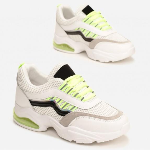 Sneakersy Neila biało zielone