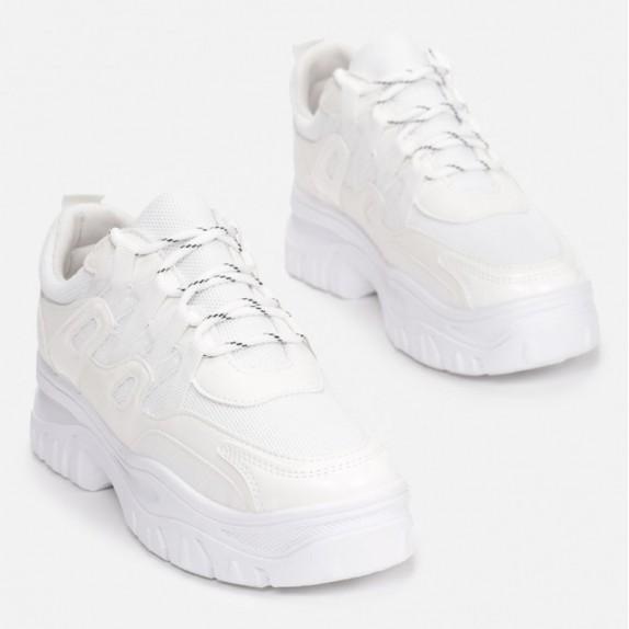 Sneakersy Isma białe