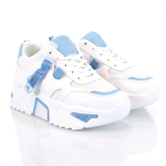 Sneakersy Berni biało niebieskie