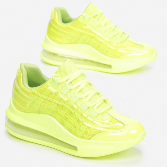 Sneakersy Bevi neon zielone