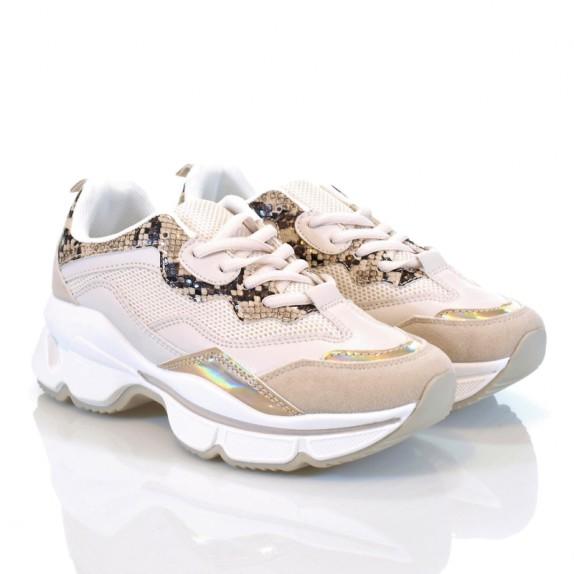 Sneakersy Casso beżowe