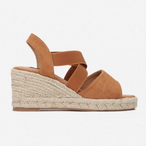 Sandały espadryle Janet camel