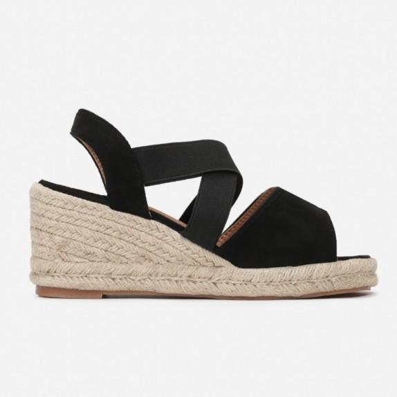 Sandały espadryle Janet czarne