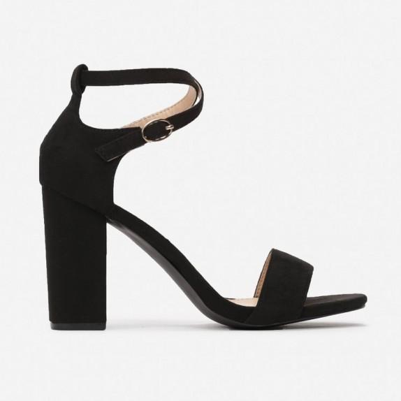 Sandały słupek Nadia czarne