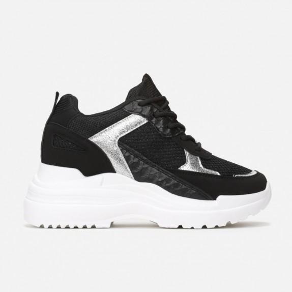 Sneakersy na koturnie Ideal czarne