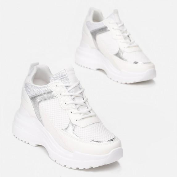 Sneakersy na koturnie Ideal białe