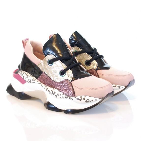Sneakersy platforma Krisi różowe