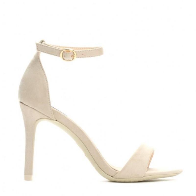 Sandały szpilki Naomi beżowe