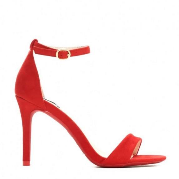 Sandały szpilki Naomi czerwone