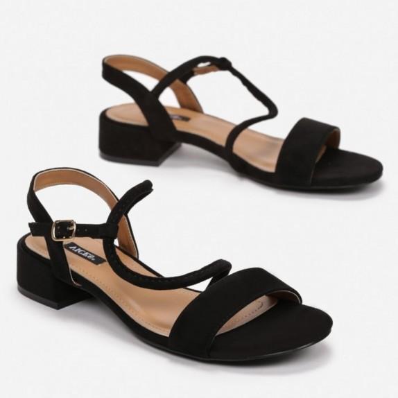 Sandały zamsz Lexi czarne