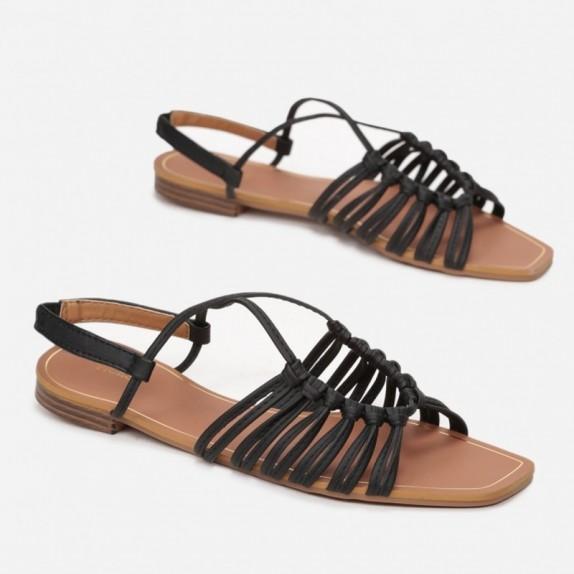 Sandały plecione Bunga czarne
