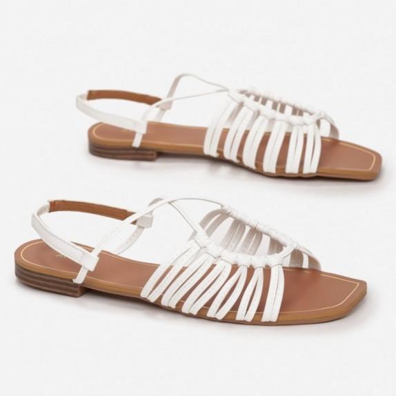 Sandały plecione Bunga białe
