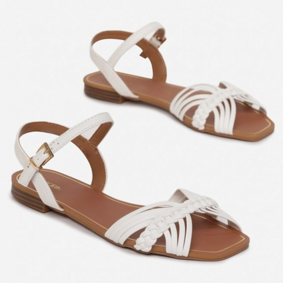 Sandały plecione Sigi białe