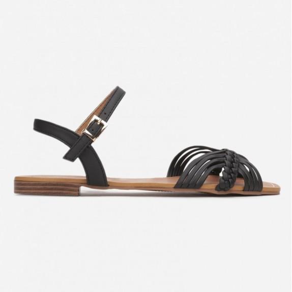 Sandały plecione Sigi czarne