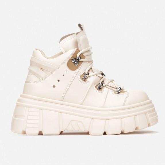Sneakersy na platformie Nubi beżowe