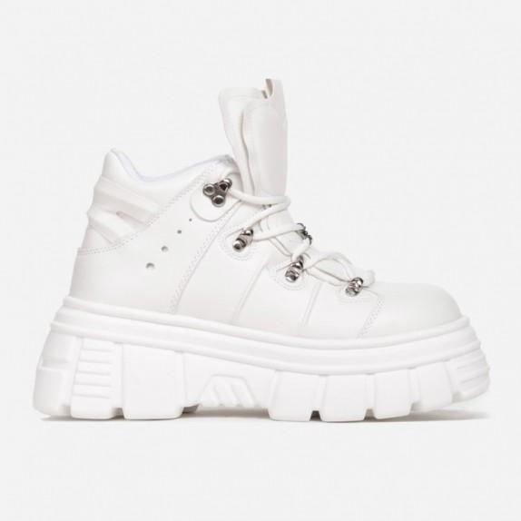 Sneakersy na platformie Nubi białe