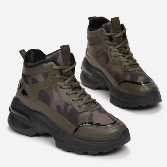 Sneakersy Lari moro zielone