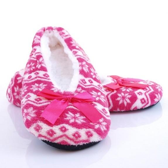 Kapcie balerinki gwiazdeczki Rachel różowe