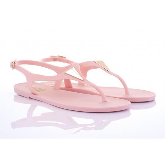 Sandały meliski gumowe japonki trójkąt Audrey różowe