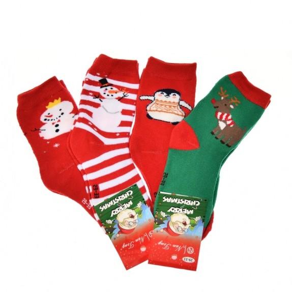 Dziecięce skarpety świąteczne Prancer 4 pary