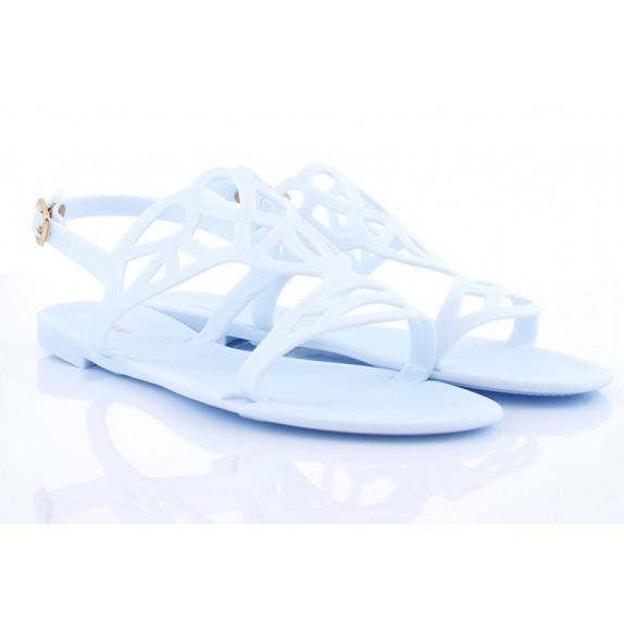 Sandałki meliski ażurowe Molly błękitne