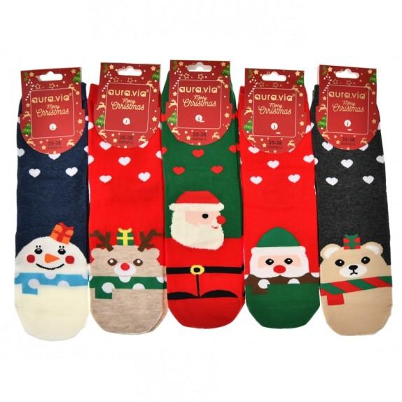 Damskie skarpety świąteczne Elfie 5 par