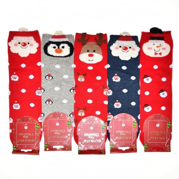 Damskie skarpety świąteczne Noel 5 par