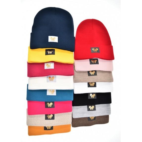 Ciepła czapka zimowa Minnie fuksjowa