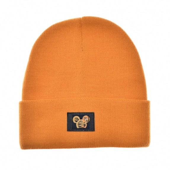 Ciepła czapka zimowa Minnie musztardowa