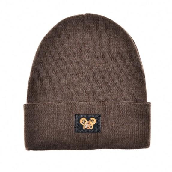 Ciepła czapka zimowa Minnie brązowa