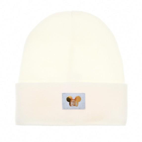 Ciepła czapka zimowa Minnie kremowa