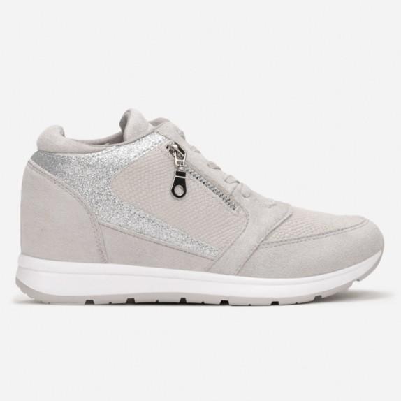 Sneakersy na koturnie Becca szare