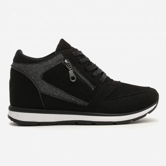 Sneakersy na koturnie Becca czarne