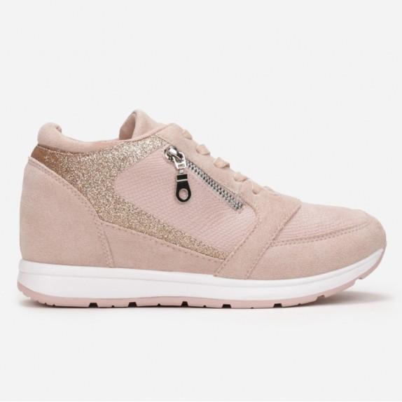 Sneakersy na koturnie Becca różowe