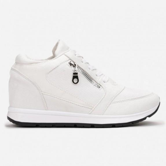 Sneakersy na koturnie Becca białe