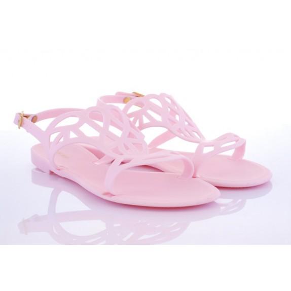 Sandałki meliski ażurowe Molly różowe