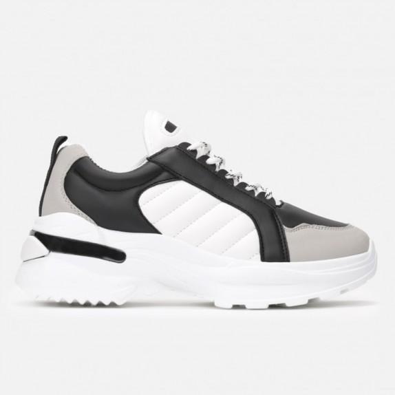 Sneakersy Loni biało czarne