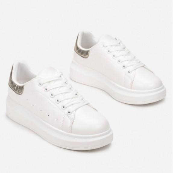 Sneakersy Rita biało złote