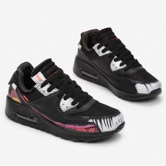 Sneakersy Lolly czarno białe