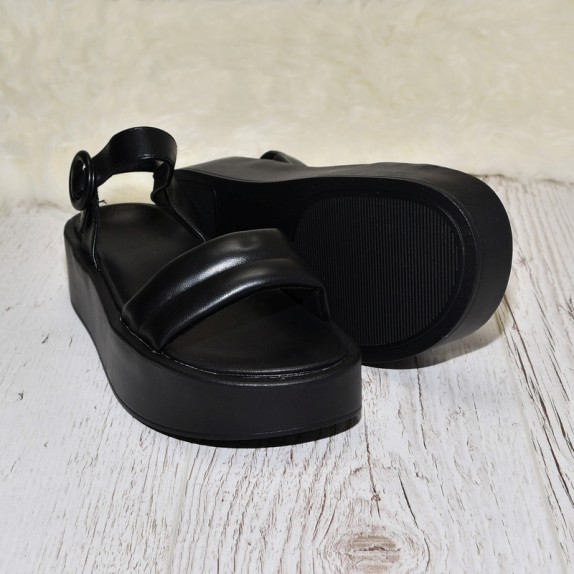 Sandały na platformie Bibi czarne