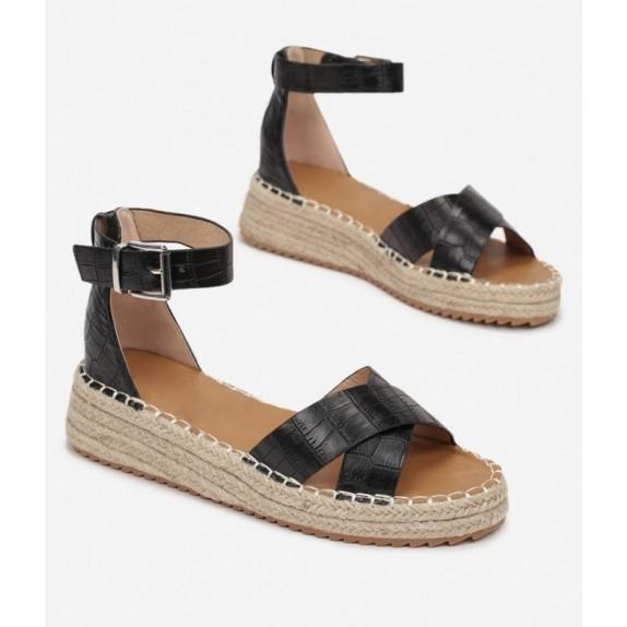 Sandały na platformie Jovita czarne