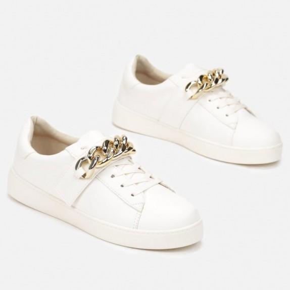 Sneakersy z łańcuchem Arely beżowe
