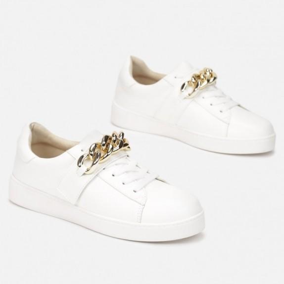 Sneakersy z łańcuchem Arely białe