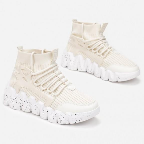 Sneakersy skarpetka Aitana beżowe