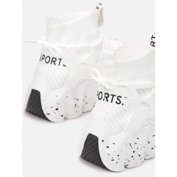 Sneakersy skarpetka Aitana białe