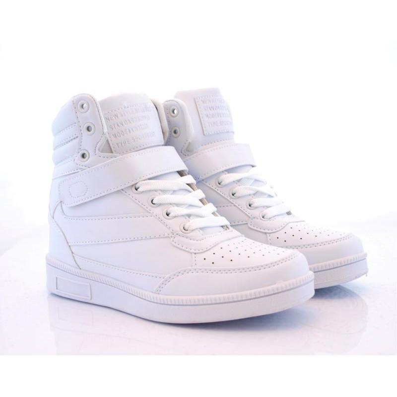 6a895fd86 Lu boo sneakersy trampki koturn Letter białe | sklep SOLUEL