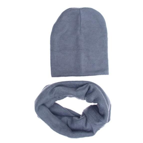 Komplet czapka zimowa komin Melissa szary