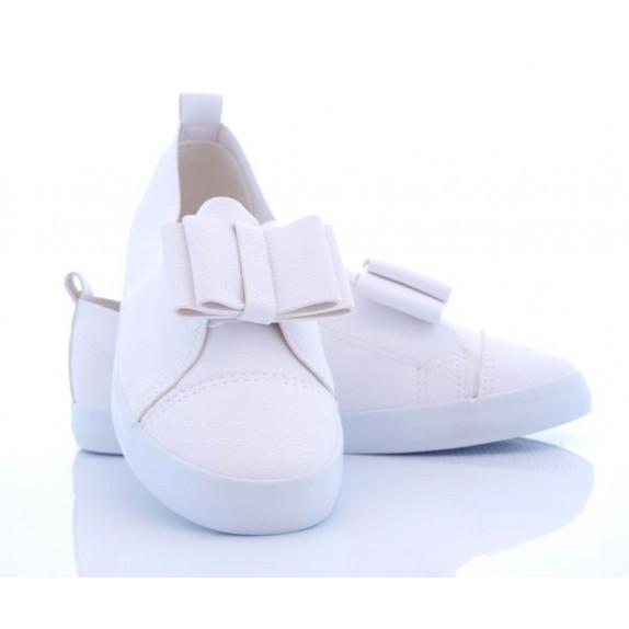 Balerinki kokardka Annabella białe