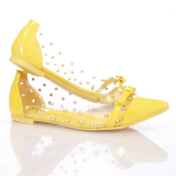 Balerinki ćwieki Zoe żółte