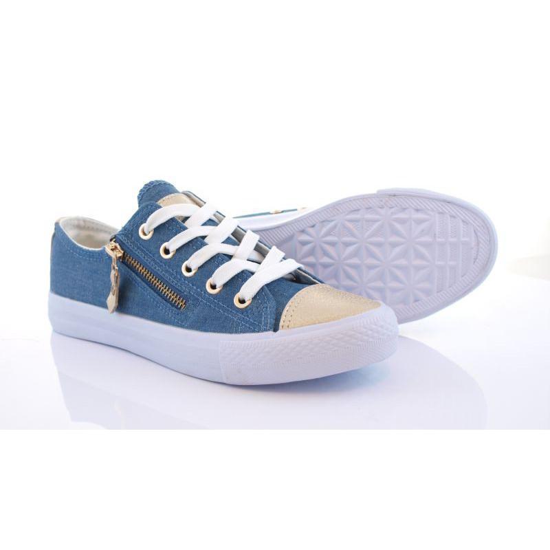 Trampki sneakersy suwak złoty czubek Carla jeans | sklep SOLUEL